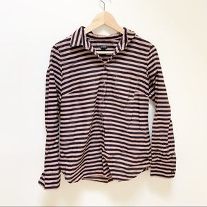 j.crew Printed voile popover shirt striped S